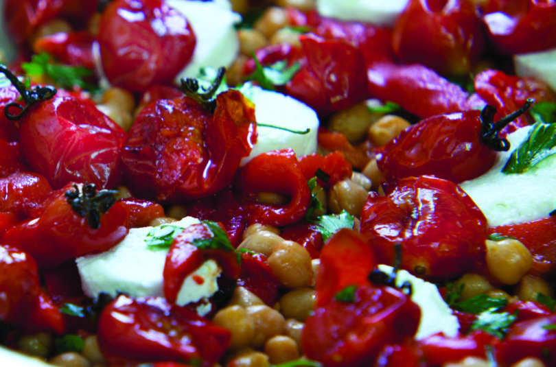 Red Pepper and Chickpea Salad