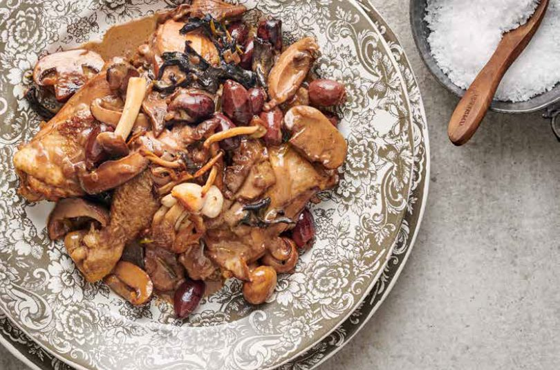 Mushroom Chicken with Port
