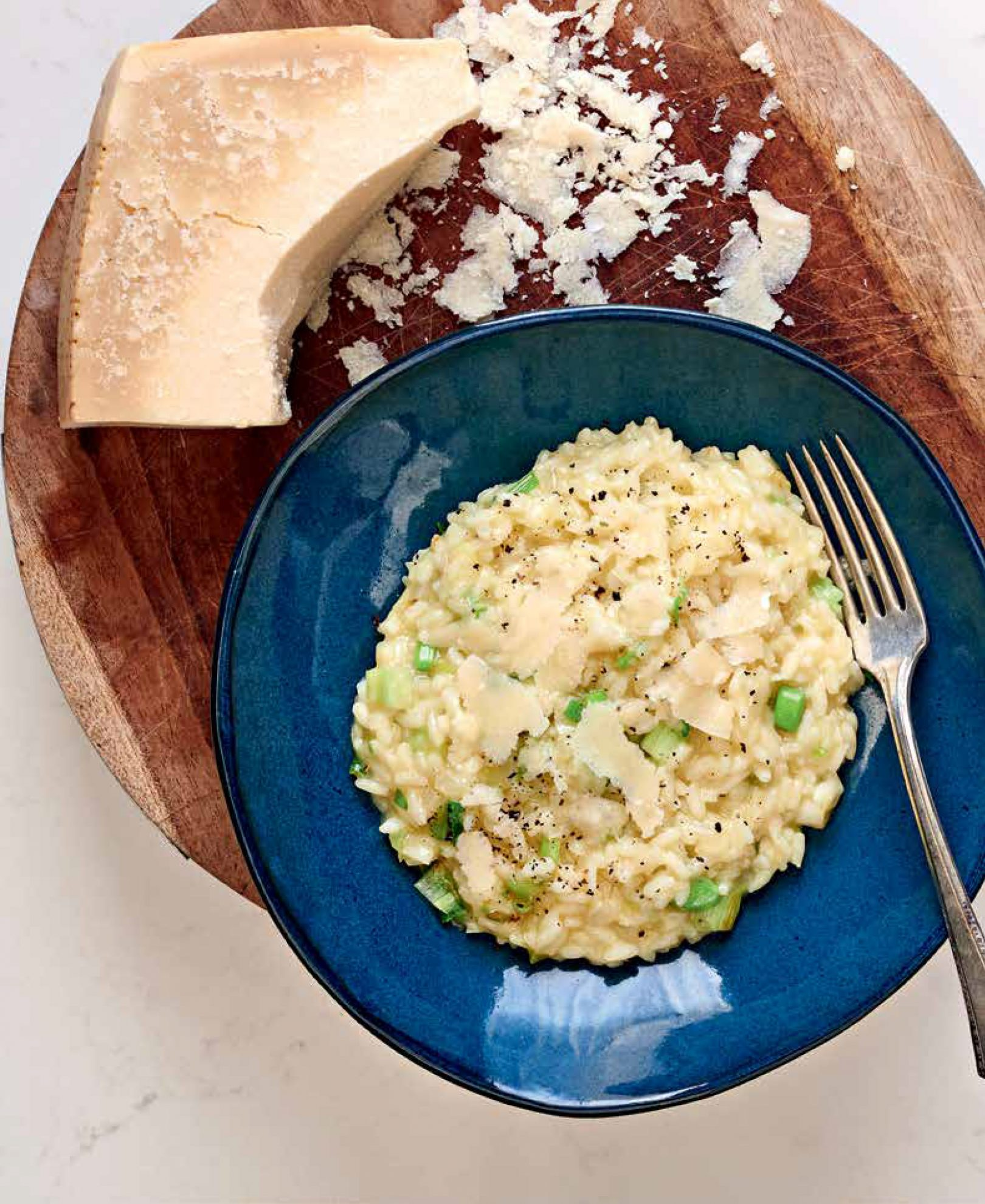 Basic Risotto with Parmigiano*
