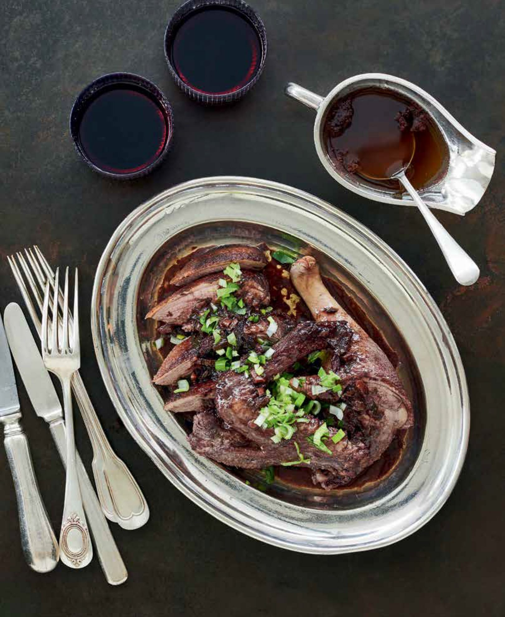 Duck with Red Wine